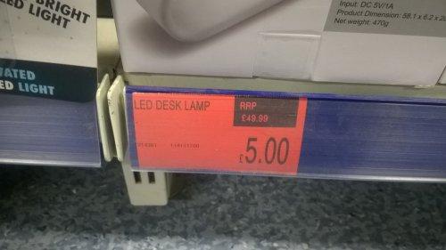 MUUV Wireless LED Desk Lamp £5 @ B&M