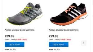 adidas ladies women's running shoes questar boost £14.99-£19.99 delivered at express trainers