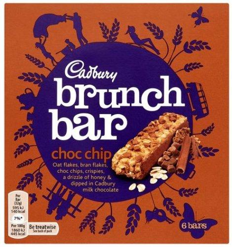 Cadbury Brunch Bars 6x32g was £1.99 now 90p at Tesco - Chocolate Chip/Raisin/Peanut
