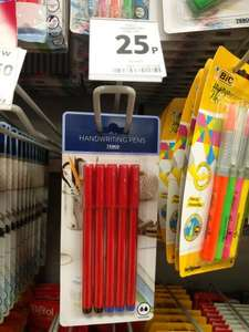Handwriting pens 25p instore Tesco