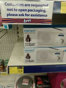 Intempo DAB radio £19.99 reduced from £ 29.99 B& M instore
