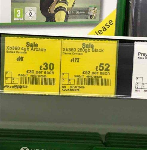 Xbox 360 250gb black - Asda Larbert £52 instore
