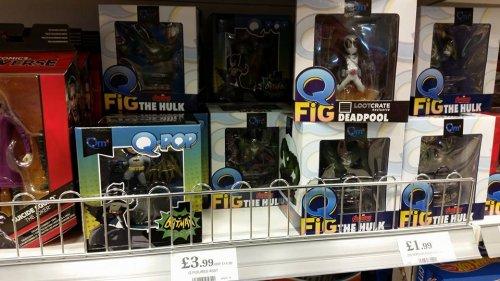Q Pop collectable figures Deadpool, batman, Hulk  £3.99 (RRP £14.99)  @home bargains