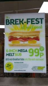 6 inch Mega Melt sub only 99p @ Subway (Lowestoft)