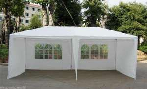 3m x 6m gazebo / marquee with 6 sides so can be fully enclosed £54.99 delivered @ eBay sold by Thinkprice