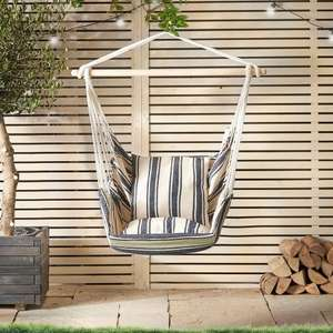 Striped hanging chair now £19.99 delivered @ Domu