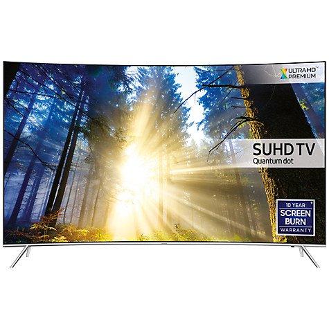 "Samsung UE43KS7500 Curved SUHD HDR 1,000 4K Ultra HD Quantum Dot Smart TV, 43"" + FREE R3 Wireless Multiroom Speaker @ John lewis - £749"