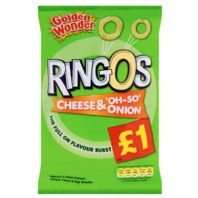 Ringos Sharing bag 70g Salt & Vinegar/Cheese & Onion 39p @ Home Bargains