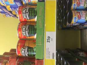 Heinz farmers market tomato and butterbean soup 400g in Heron at 25p per tin!