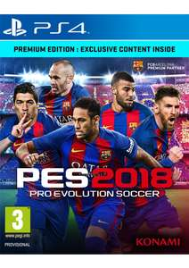 [PS4/Xbox One] PES 2018 Premium Edition - £34.85 - SimplyGames