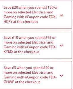 Tesco direct: technology, toys, gaming vouchers see op