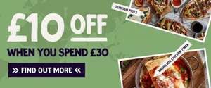 £10 off a £30+ spend on food and drink, every day until Fri 26 May at Giraffe Restaurants