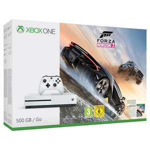 Microsoft Xbox One S Console 500GB with Forza Horizon 3 & Wireless Controller with 3 year guarantee Free delivery - £219 @ John Lewis