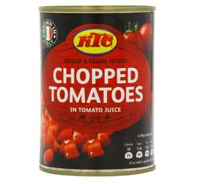 KTC Tomatoes Chopped 400 g (Pack of 12) £3.24 amazon add on item