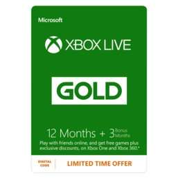 15 MONTHS of Xbox Gold £26.99 @ Game!