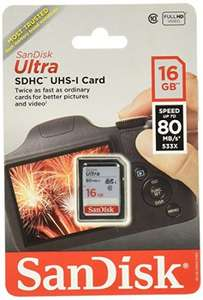 SanDisk Ultra SDHC Memory Card 16GB - £6.00 click 'n  collect Tesco