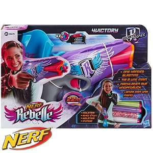 home bargain Nerf Rebelle Secrets & Spies: 4Victory Blaster £6.99 @ Home Bargains