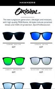 Hawkers Sunglasses 50% off working Promo Code - Glasses from £18.50