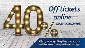 Odeon 40% Off Tickets Online!