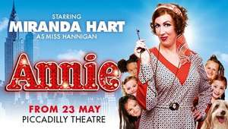 Annie Theatre Tickets in London starring Miranda Hart £20 - £90 @ ATG Tickets