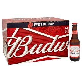 24 Budweisers for £11 300ml bottles at ASDA