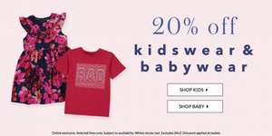 asda george 20% off kidswear and babywear online offer started now