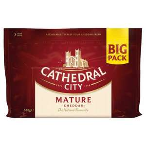 Cathedral City Mature/Extra Mature Cheddar 550G was £5.00 now £2.50 at Tesco