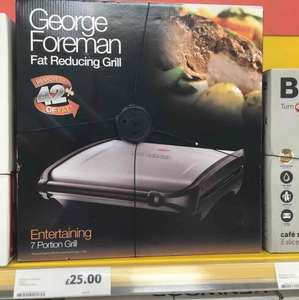 George Foreman 7 portion grill only £25 @ Tesco Newry instore