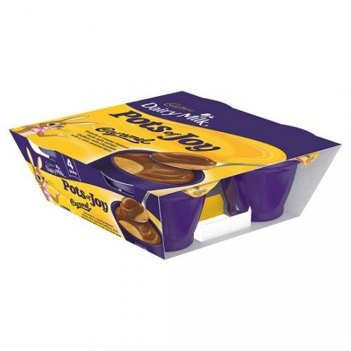 Cadbury Pots Of Joy 4 X 70G was £2.40 now £1.00 at Tesco Dairy Milk/Caramel/Milk Buttons/Strawberrys & Creme