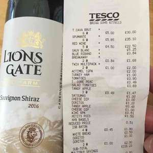 Lions gate wine farm Cabernet Sauvignon Shiraz £3.38 if you buy 6 instore @ Tesco