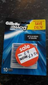 Gillette Mach 3 Turbo Blades x 10 reduced to £3.50 at Asda Stanley