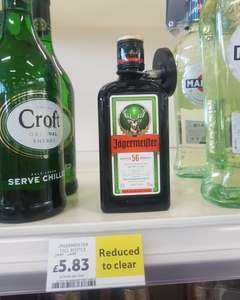 Jagermeister 35cl £5.83 Reduced Tesco instore