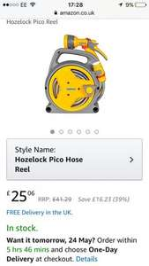 Hozelock pico reel - hose pipe £25.06  free delivery amazon