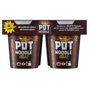 4pk Pot Noodle £2.00 @ Tesco From Wednesday