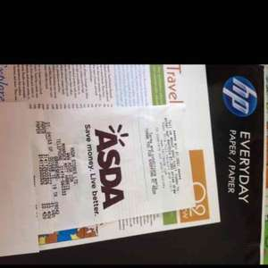 HP A4 paper at ASDA Gravesend reduced to 40p a pack