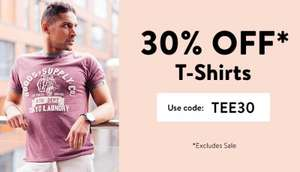 30% off on T-shirts using code @ Tokyo Laundry