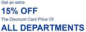 15% off Discount Card Price at Go Outdoors