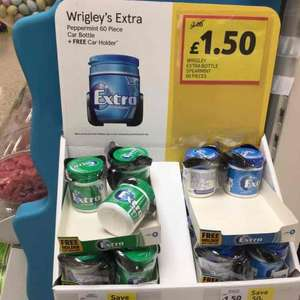 Wrigleys  Extra Chewing Gum with CarHolder £1.50 @ Tesco