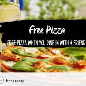Free Pizza at Pizza Express with the purchase of any other main meal