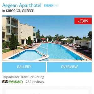2 weeks half term Holiday East Midlands to Greece £386 thomson holidays