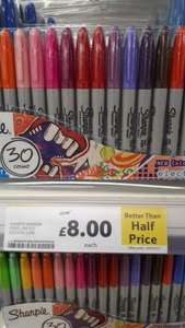 Sharpie marker pens - 30 pack - £8 Tesco