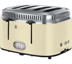 RUSSELL HOBBS Retro 21692 4-Slice Toaster £39.99 Currys