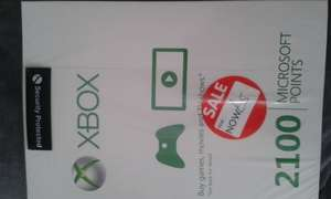£18.02 worth of Xbox credit for £5 (2100 Microsoft Points card) instore @ Asda Walthamstow