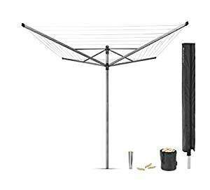 Brabantia Lift-O-Matic Rotary Airer with Accessories 50m - £49.99 @ Amazon