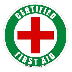 Free first aid course, with certificate.