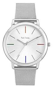 Paul Smith Men's Quartz Watch with Silver Dial Analogue Display and Silver Stainless Steel Strap P10054 - £120.80 @ Amazon