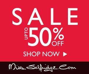 20% off everything plus massive reduction on sale items @ Miss Selfridge