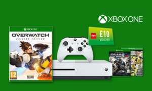 Xbox one S 500GB + Fifa 17 + Overwatch + Gears of war 4 + extra 2nd controller + £20 voucher = £219 @ Argos