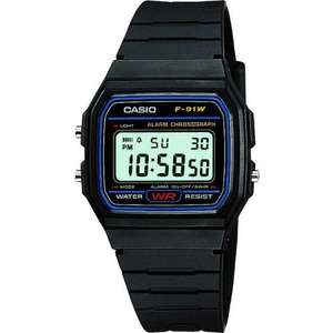 Classic Casio F-91W-1YER Watch - @ 7dayshop - £6.89 (inc del)