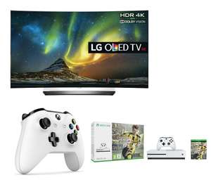 "LG OLED55C6V Smart 3D 4k Ultra HD HDR 55"" Curved OLED TV, Xbox One S, FIFA 17 & Controller Bundle £1518.99 with code - 5 Years warranty Free delivery @ Currys"